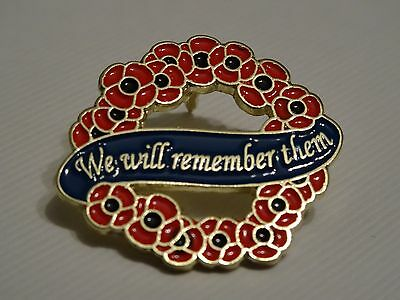 Poppy Wreath Badge Pin On Card - Anzac Day - Remembrance Day