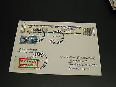Mexico 1967 express olympia cover to Sweden *14627