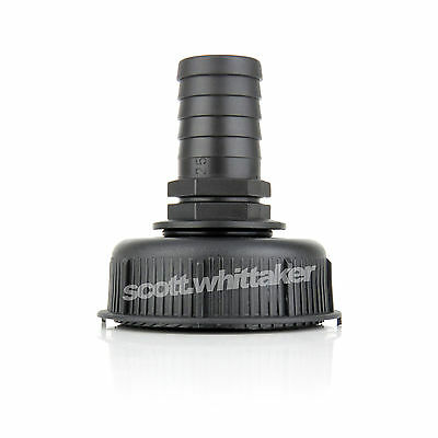 """IBC Tank Cap to 25mm (1"""" inch) Hose Tail Adapter Fitting Connector Yute S60 60mm"""