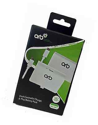 ORB Dual Controller Battery Pack White - Compatible with Xbox One S