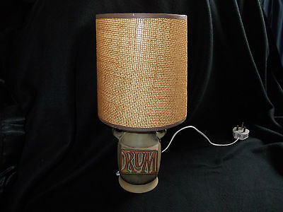 "1970's TREMAR ""RUM"" TABLE LAMP WITH ORIGINAL SHADE"