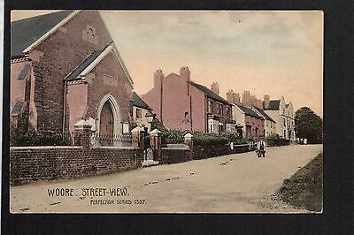 "Woore - Street View - colour printed postcard in ""Perfection Series"""