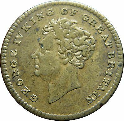 WCA British Token 1830 Death of King George IV  # 521