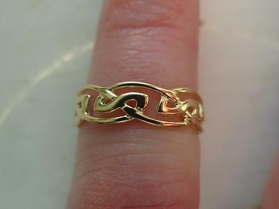 New Hallmarked 9ct Gold Celtic Band Pattern 5mm Toe Ring Adjustable Size 0.8g
