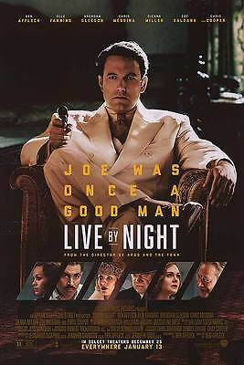 Live By Night - original DS movie poster - 27x40 D/S Ben Affleck FINAL