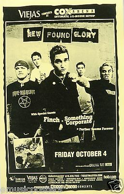 New Found Glory / Finch / Something Corporate 2005 San Diego Concert Tour Poster