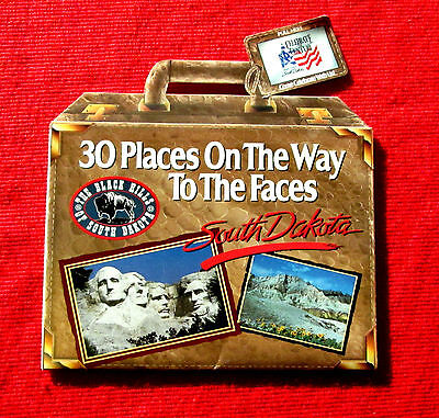 1989 30 Places on the Way to the Faces Mount Rushmore SD Travel Brochure meac5