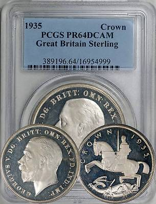 Great Britain 1935 George V Proof Crown PCGS PR-64 Deep Cameo - 2,500 minted