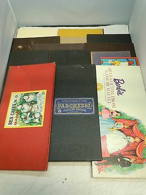 VINTAGE GAME BOARD LOT Parker Brothers Lowe Selchow Righter Parcheesi Chess