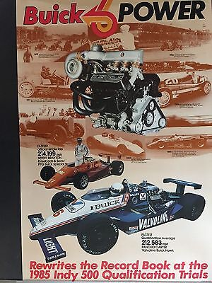 """POSTER Buick 1985 Indy 500 Qualification Trials  25"""" x 38"""""""