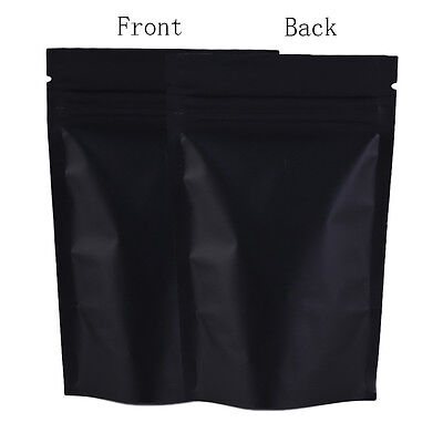 Smell Free Ziplock Grip Seal Bags Stand Up Pouch Black - 8.5CM x 13CM
