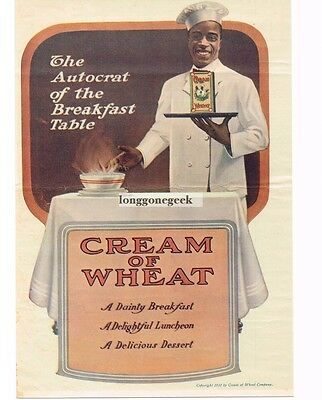 1919 Cream Of Wheat The Autocrat Of The Breakfast Table Vtg Print Ad