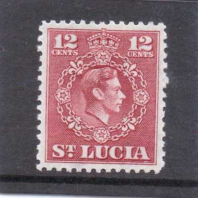 St.LUCIA GV1 1949-50 new currency 12c  sg 153 H.MINT