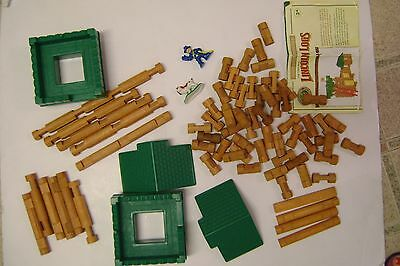 Lincoln Logs Fort Replacement Roof/Logs/dog/Soldier  all you see