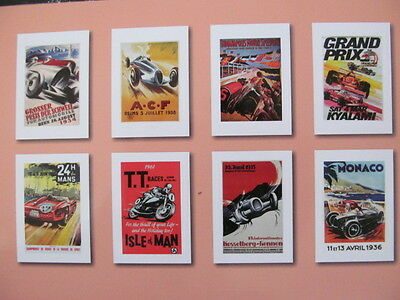 "Classic Vintage 16"" Posters Reproduction Prints Grand Prix F1,iom Tt 24 Le Mans"