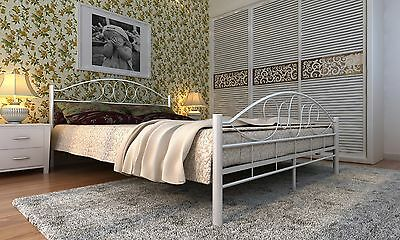 metallbett metall bett doppelbett bettrahmen bettgestell lattenrost 140x200 cm s eur 78 99. Black Bedroom Furniture Sets. Home Design Ideas