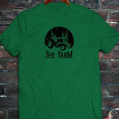 FARMER TRACTOR FARMING AGRICULTURE NATURE CROPS Mens Green T-Shirt