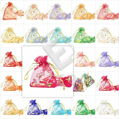 25/50/100/200/500pcs Premium Organza Bag 7x9cm Wedding Party Gift Jewelry Pouch