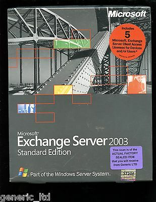 Factory Sealed - 312-02613 Microsoft Exchange Server 2003 Standard 5 CAL