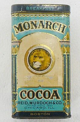Vintage Empty Monarch Breakfast Cocoa Tin Can