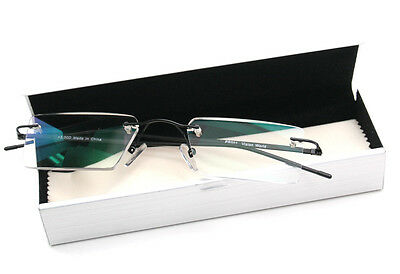 Thin Rectangle Rimless Readers with Anti-Reflective AR Coating Reading Glasses
