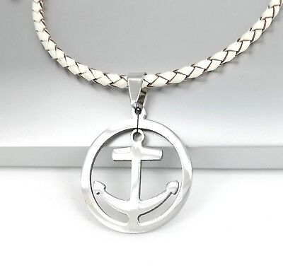 NEW Silver Black Celtic Knot Cross Stainless Steel Pendant Red Leather Necklace