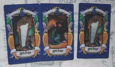 3 Harry Potter Holographic Cards; Norbert: Mirror of Erised