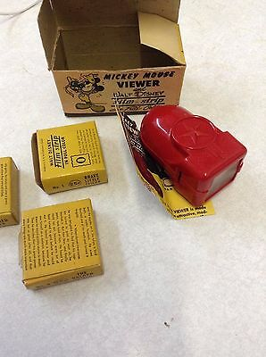 Mickey Mouse Viewer 1940's 3 Films Craftsmen's Guild Original Boxes