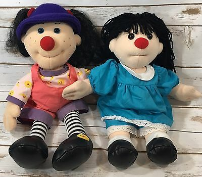 "The Big Comfy Couch Lot 20"" Loonette the Clown & 17"" Molly Plush Dolls Rare HTF"