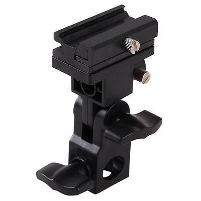 Black Flash Bracket B Shoe Umbrella Holder Swivel Light Stand for Canon/Nikon LG