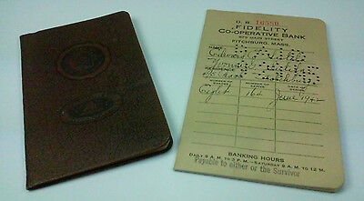 1940s FIDELITY CO-OPERATIVE BANK & CHICOPEE FALLS SAVINGS BANK ACCOUNT BOOKS