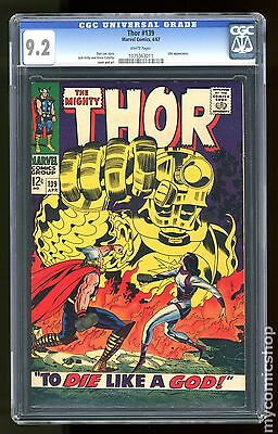 Thor (1962-1996 1st Series Journey Into Mystery) #139 CGC 9.2 (1075363011)