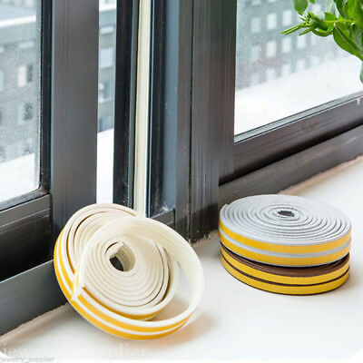 5M Door Window Seal Strip Self Adhesive Foam Sound-Proof Windproof Tape Roll New