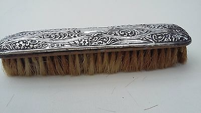 Antique Solid Silver Clothes Brush Henry Mathews Victorian 1897