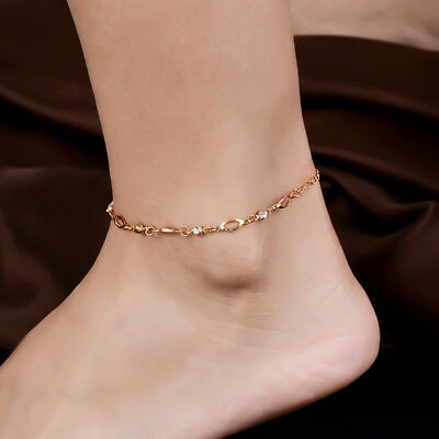 Gold Chain Anklet Bracelet Ankle Foot Jewelry Barefoot Beach Anklet