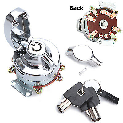 Electronic Ignition Switch Chrome for Harley Dyna Fat Bob Softail 71501-73A