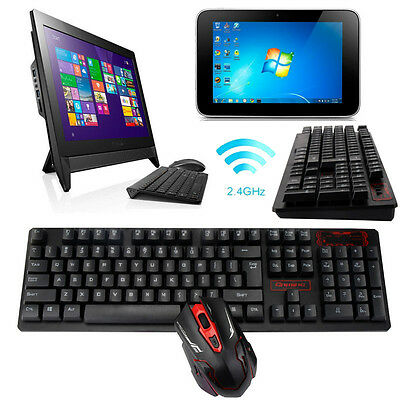 Ergonomic Backlit 2.4G Wireless Gaming keyboard and Mouse Combo Set For PC Gamer