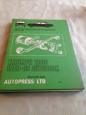 Triumph 2000 Workshop Manual 1963-1969 Owners Manual Autobook