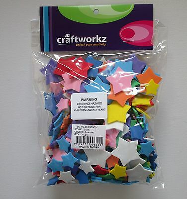 Foam Shapes Star  x 300 pc  Multicoloured