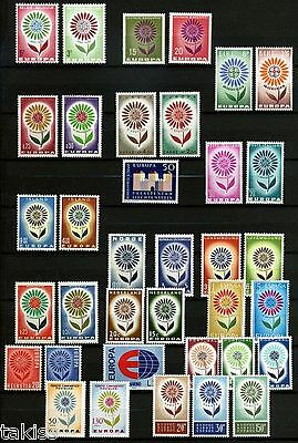 Europa CEPT-1964 Stamps Complete Year Set MNH **