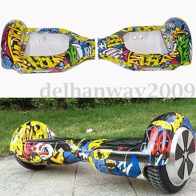 Graffiti Plastic Shell Cover Case Skin For 6.5'' 2 Wheel Self Balancing Scooter