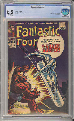 Fantastic Four # 55 Peerless Power of the Silver Surfer ! CBCS 6.5 scarce book !