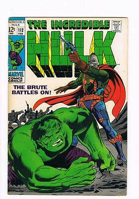 Incredible Hulk # 112  The Brute Battle On !  grade 6.5 hot book !!