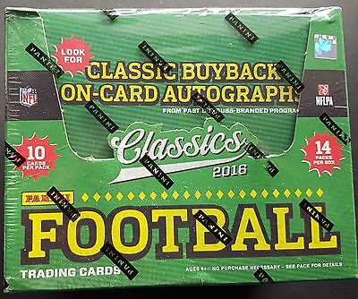 Panini NFL Classics Football HOBBY Box NFL 2016 One Autograph per Box