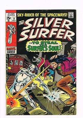 Silver Surfer # 9  To Steal the Surfer's Soul ! grade 6.0 scarce hot book !!