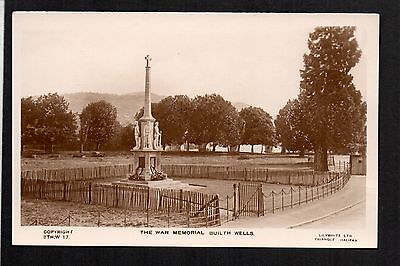 Builth Wells - The War Memorial - real photographic postcard