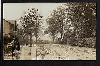 Levenshulme, Manchester - Clare Road - real photographic postcard