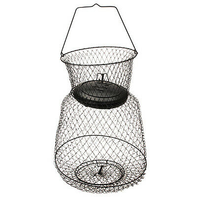 """Eagle Claw 11051-002 Wire Fishing Basket 19"""" x 30"""" Black Collapsible"""