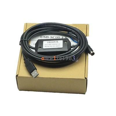 PLC Programming USB-SC09-FX Cable For Mitsubishi MELSEC USB TO RS422 ADAPTER