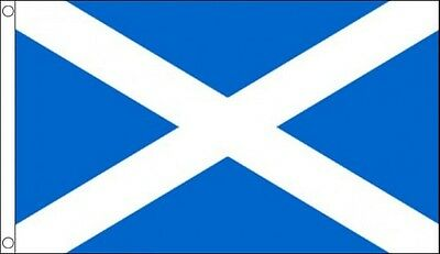 8' x 5' ST ANDREWS CROSS FLAG Traditional Blue Scotland Andrew Funeral Drape